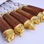Шампура позолоченные фото