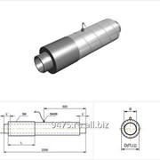 Концевой элемент стальной в оцинкованной трубе-оболочке с верхним кабелем вывода d=57 мм, s=3 мм, L=150 мм фото