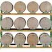 Стеллажи складские для хранения бочек, баков и барабанов фото