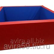 Сухой бассейн квадратный с аппликацией 100*100см. Н40см. S10 см.(без шаров)
