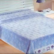 Махровая простынь OZDILEK Shell Blue (Шелл Блу) 200х220 фото
