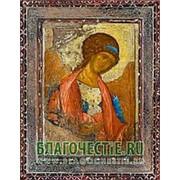 Благовещенская икона Михаил Архангел, копия старой иконы, печать на дереве Высота иконы 11 см фото