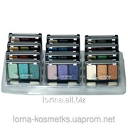 Тени перламутровые трехцветные 12 шт., арт. L-EYMIX-003 фото