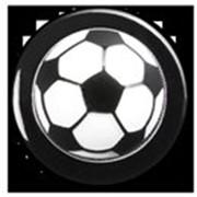 Пукли, пластиковые, черные, дизайн футбол, 12 шт. фото