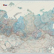 Настенная карта «Россия и сопредельные государства» политико-административная фото