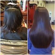 Кератиновое Наращивание волос от 30000тг. фото