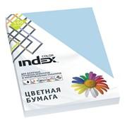 Бумага офисная Index Color, А4, 100 л, бледно-голубой, 80 г фото