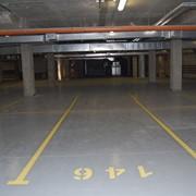 Разметка крытой парковки фото