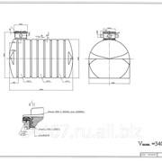 Емкость цилиндрическая горизонтальная на опорах J3500ФК2