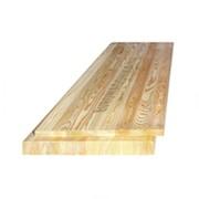 Щит мебельный лиственница цельноламельный 18х600х2500 мм Экстра фото