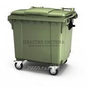 Передвижной мусорный контейнер 1100 литров с крышкой фото