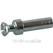 Дюбель проходной двухсторонний TI10 гайка для стяжки пд., D=5мм, L=15мм, М4, сталь, цинк. покр фото