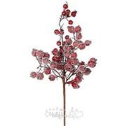 """Ветка """"Ягодное изобилие"""" с красными заснеженными ягодами, 43 см (Edelman) фото"""