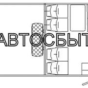 Салон вахтового автобуса НЕФАЗ-42111-11-16 (6 посад. мест)