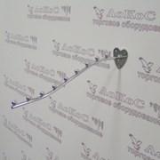 Вешало на стену d-9 изогнутое 9 шариков, L=400мм, (осн. сердечко), хром, TE04-400 фото