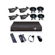 Системы видеонаблюдения DVR kit with 4 Cameras KT46 фото
