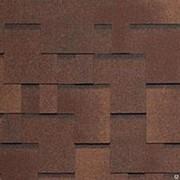 АЛЬПИН(хаот. прямоуг. с отл.), уп. 3,45 м2 (коричневый с отливом) фото