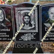 Памятник двойной гранитный Г-009 типовой горизонтальный фото
