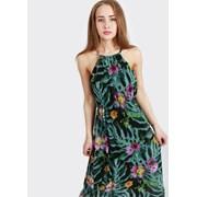 Легкие платья c ярким тропическим принтом из Итали фото