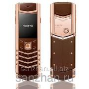 Телефон Vertu Signature S Design Red Gold Brown Leather 86526 фото