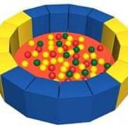 Сухой бассейн с шариками «16 граней» ДМФ МК-14.19.01 фото