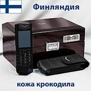 Телефон Vertu Signature S Design Black Alligator Serial фото