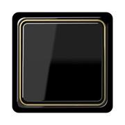 Выключатель JUNG CD plus черный с внутренней золотой рамкой фото