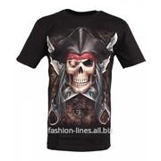 Мужская футболка Rock Eagle Jolly Roger c пиратским черепом фото