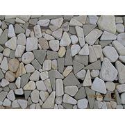 Галька из камня песчаника фото