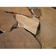 Природный камень песчаник коричневый 10 мм фото
