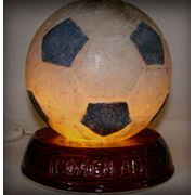 Светильник из соли Футбольный мяч как сувенир и предмет интерьера от производителя Соледар фото