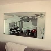 Зеркала с матовым рисунком пескоструйная обработка фото