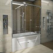 Шторка на ванну Ларедо luxe (хромированный профиль) фото