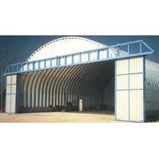 Здания быстровозводимые (ангары арочные здания из сендвич-панелей боксы для самолетов и вертолетов) фото