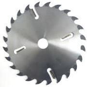 Пилы дисковые по дереву с твердосплавными пластинами и подрезными ножами для многопильных станков фото