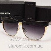 Женские солнцезащитные очки Prada SPR 38 PS цвет черный фото