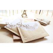 Упаковочные конверты. Мягкий картон украшен кружевной аппликацией. 15х19 см фото