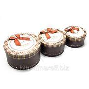 Подарочные коробки круглые (комплект из 3-х штук) фото