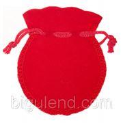 Мешочек для украшений красный фото