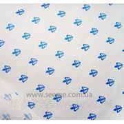 "Бумага белая для упаковки ""L'Amour-blue"". фото"
