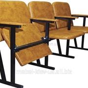 Кресло для актового зала, 3-местное, кож-зам фото