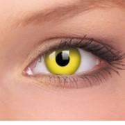 Желтые контактные линзы фото