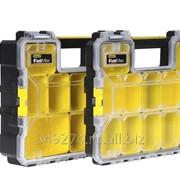 Органайзер Stanley FatMax Shallow Pro Metal Latch 44,6 x 7,4 x 35,7 см, влагостойкий, модульный 1-97-517 фото
