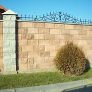 """Забор из колотых блоков """"Рваный камень"""" фото"""