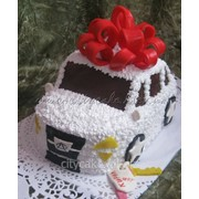Торт машинка №0086 код товара: 6-0086 фото