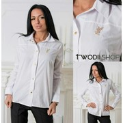 9aaab3fce04 Женская классическая рубашка с украшением