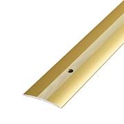 ЛУКА Порог стыкоперекрывающий ПС 03-1350-02 золото (1,35м) 37мм фото