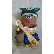 Кукла-оберег домовик-казачка фото