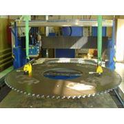Изготовление режущих дисков диаметром до 3200 мм толщиной до 16 мм с любой формой зуба. фото