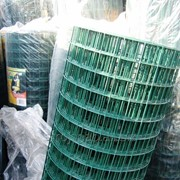 Сетка сварная в полимерном покрытии 50х50х1,8/2,2 темно-зеленая фото